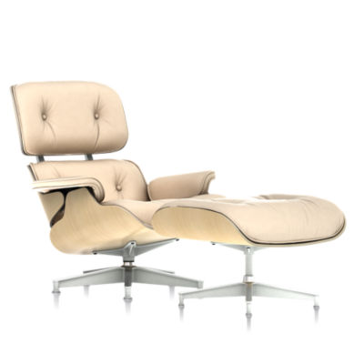Picture of Eames Tall Lounge Chair and Ottoman White Ash by Herman Miller