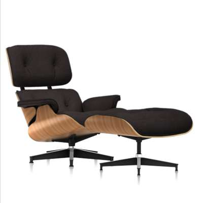 Picture for Eames Tall Lounge Chair and Ottoman, Premium Mohair by Herman Miller