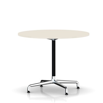 Picture Of Eames Round Table By Herman Miller Universal Base