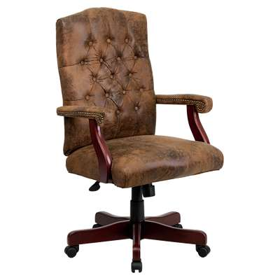 Picture for Bomber Brown Classic Executive Office Chair
