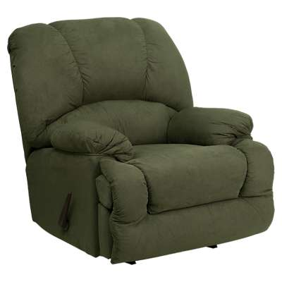 Picture for Contemporary Glacier Olive Microfiber Chaise Rocker Recliner