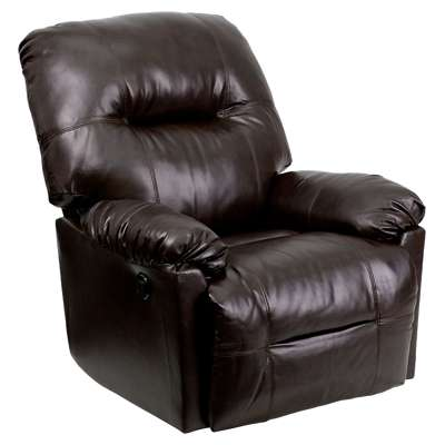 Picture for Contemporary Bentley Brown Leather Chaise Power Recliner