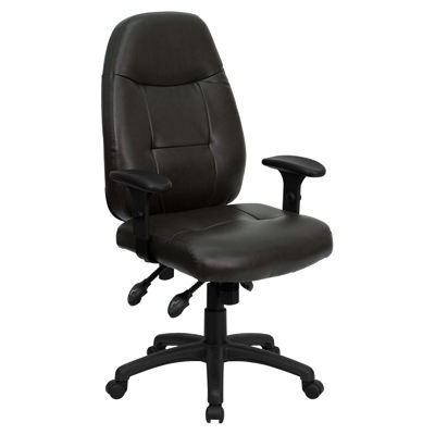 Picture of High Back Leather Executive Office Chair with Arms