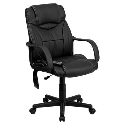 Picture for High Back Massaging Black Executive Office Chair