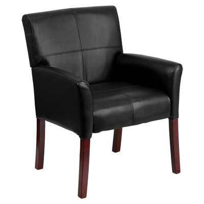 Picture for Leather Executive Side Chair or Reception Chair with Mahogany Legs