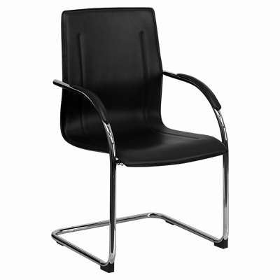 Picture for Black Vinyl Side Chair with Chrome Sled Base