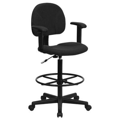Picture for Patterned Fabric Ergonomic Drafting Stool with Arms