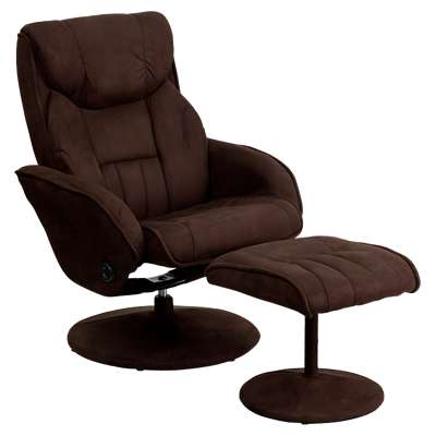 Picture for Contemporary Brown Microfiber Recliner and Ottoman