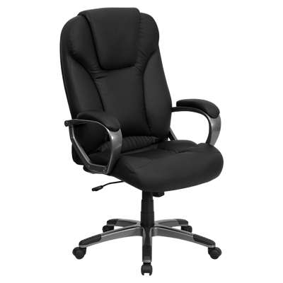 Picture for High Back Black Executive Swivel Office Chair with Casters