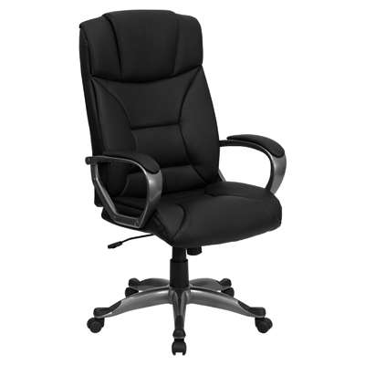 Picture for High Back Black Leather Executive Office Chair with Arms