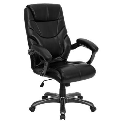 Picture for High Back Black Overstuffed Executive Office Chair