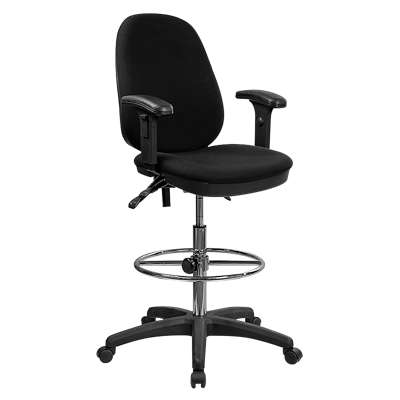 Picture for Ergonomic Multi-Functional Triple Paddle Drafting Stool with Adjustable Foot Ring and Arms