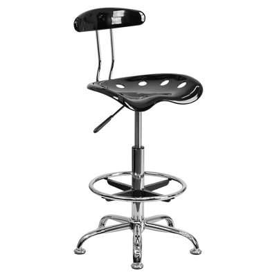 Picture for Vibrant Chrome Drafting Stool with Tractor Seat
