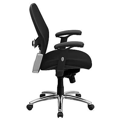 mid back super mesh office chair with black fabric seat. on sale. picture of mid-back super mesh office chair with black fabric seat mid back c