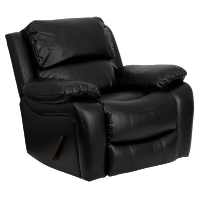 FFMEN-DA3439-91-BK-GG: Customized Item of Leather Rocker Recliner (FFMEN-DA3439-91)
