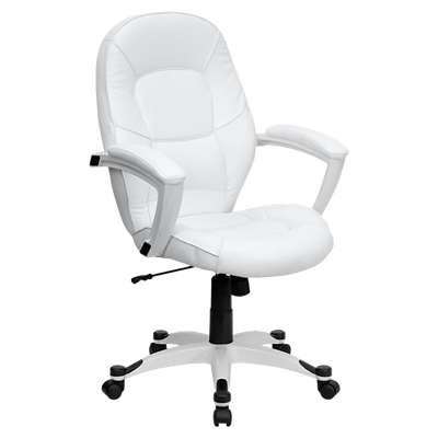 Picture for Mid-Back White Leather Executive Office Chair