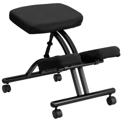 Picture for Mobile Ergonomic Kneeling Chair in Black Fabric