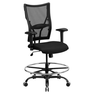 Picture for Hercules Big and Tall Black Mesh Drafting Stool with Arms