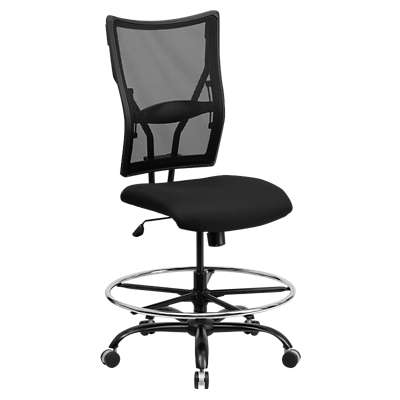 Picture for Hercules Big & Tall Black Mesh Drafting Stool