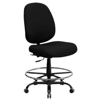 Picture for Hercules Big & Tall Black Fabric Drafting Stool
