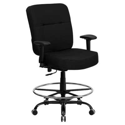 Picture for Hercules Big & Tall Black Fabric Drafting Stool with Arms