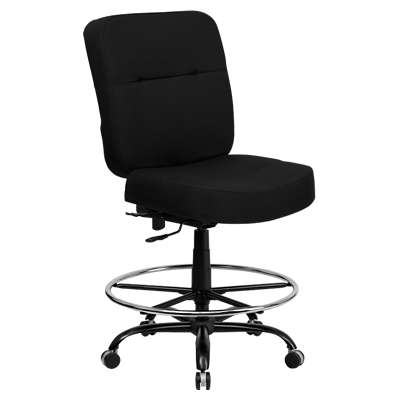 Picture for Hercules Big & Tall Black Fabric Drafting Stool with Extra Wide Seat