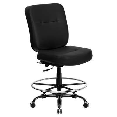Picture for Hercules Big & Tall Black Leather Drafting Stool
