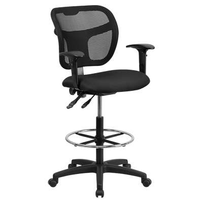 Picture for Mid-Back Mesh Drafting Stool with Arms