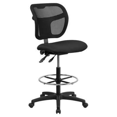 Picture for Mid-Back Mesh Drafting Stool with Black Fabric Seat
