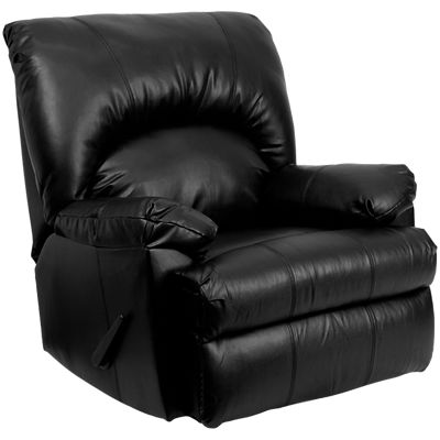 Picture of Contemporary Apache Leather Rocker Recliner
