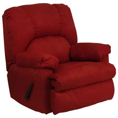 Picture for Contemporary Montana Microfiber Suede Rocker Recliner