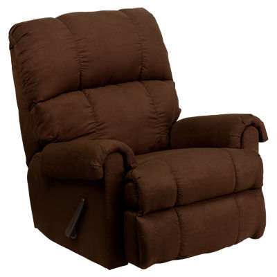 Picture of Contemporary Flatsuede Microfiber Rocker Recliner