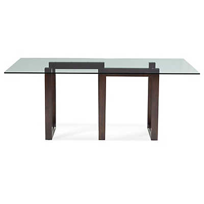 Picture of Serpent Rectangular Glass Top Dining Table by Saloom