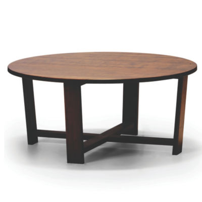 GTDAISYCT-NUTMEG: Customized Item of Daisy Round Coffee Table by Greenington (GTDAISYCT)