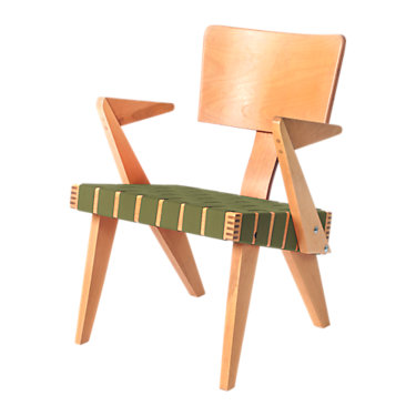 GUSSPANNERCHR-LIGHT BIRCH-RED WEBBING: Customized Item of Spanner Chair by Gus Modern (GUSSPANNERCHR)