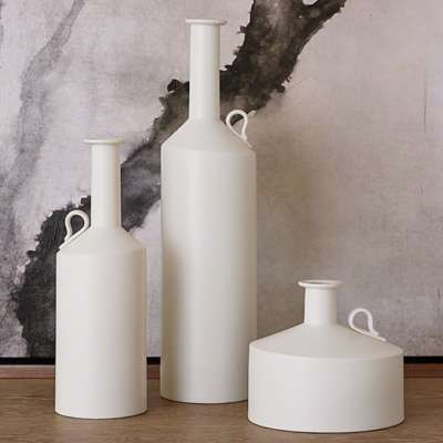 Picture for Matte White Metro Bottles by Global Views