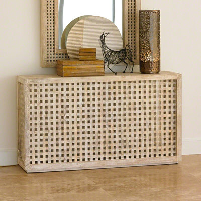 Picture of Driftwood Lattice Console by Global Views