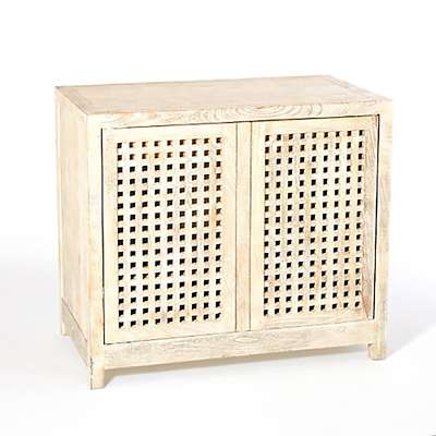 Picture for Driftwood Lattice 2-Door Cabinet by Global Views
