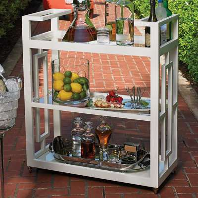 Picture for Grid Block Bar Cart by Global Views