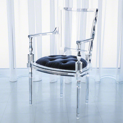 Picture of Marilyn Acrylic Arm Chair by Global Views
