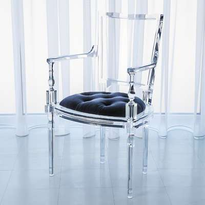 Picture for Marilyn Acrylic Arm Chair by Global Views