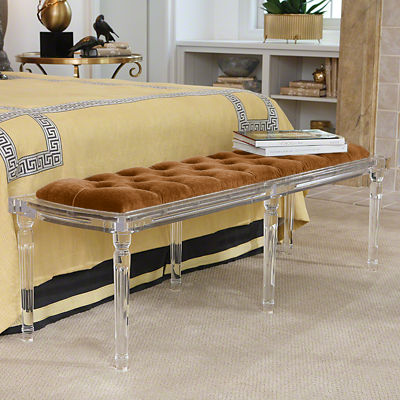 Picture of Marilyn Acrylic 6 Leg Bench by Global Views