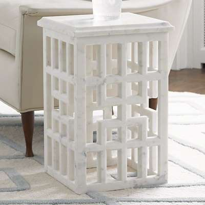 Picture for Marble Gridblock Side Table by Global Views