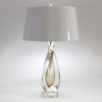Picture for Amber Twisted Art Glass Lamp by Global Views