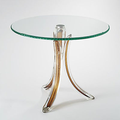 Picture of Glass Tusk Table by Global Views