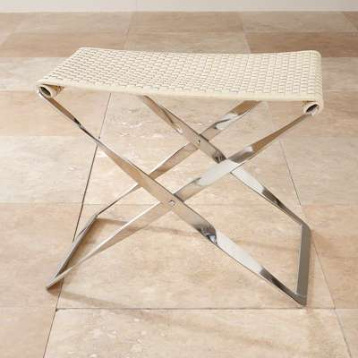 Picture for Woven Leather Folding Bench by Global Views