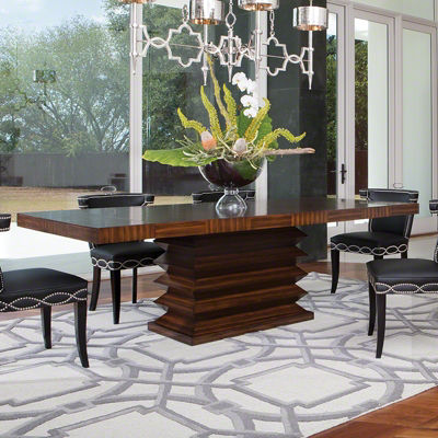 Picture of Zig Zag Dining Table by Global Views