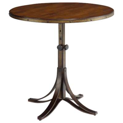 Picture for Mercantile Round Adjustable Accent Table by Hammary