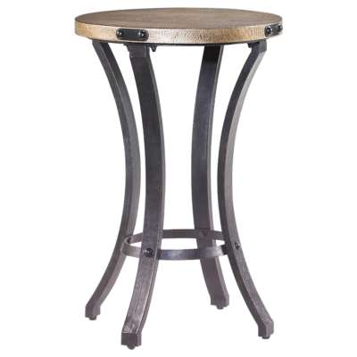 Picture for Hidden Treasures Round Metal Accent Table by Hammary