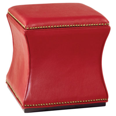 Picture of Hidden Treasures Storage Cube Ottoman by Hammary